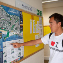 Student points 至 map Bournemouth