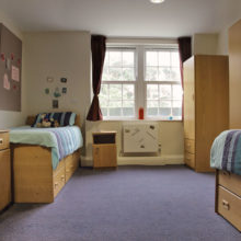 Beds in dorm